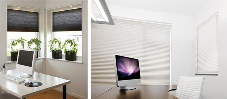 sensuna plissees f r b ros und bildschirmarbeitspl tze. Black Bedroom Furniture Sets. Home Design Ideas
